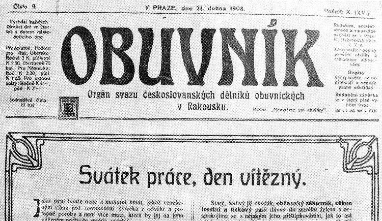 Obuvník 1908