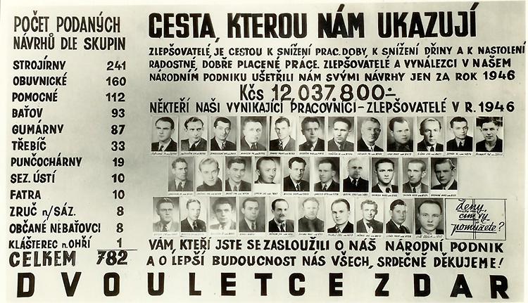 zlepšovatelské tablo z roku 1947