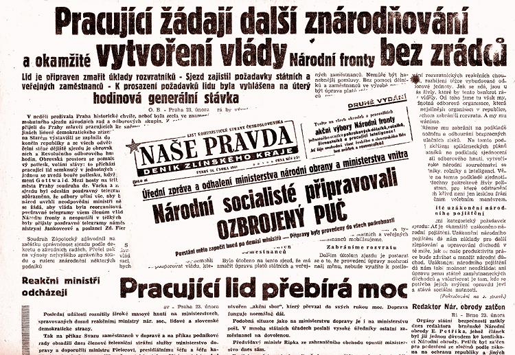 Naše pravda 24. února 1948