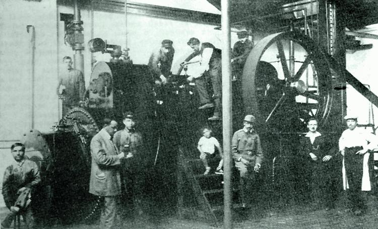 strojovna Štěpánkovy továrny na boty