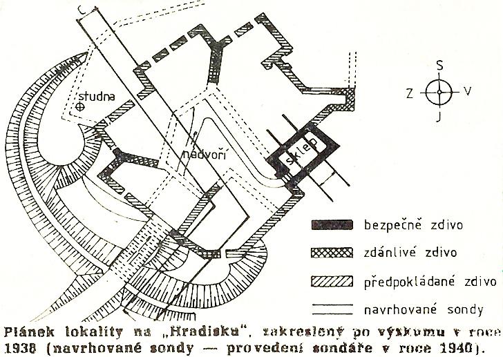 lokalita Hradisko 1938