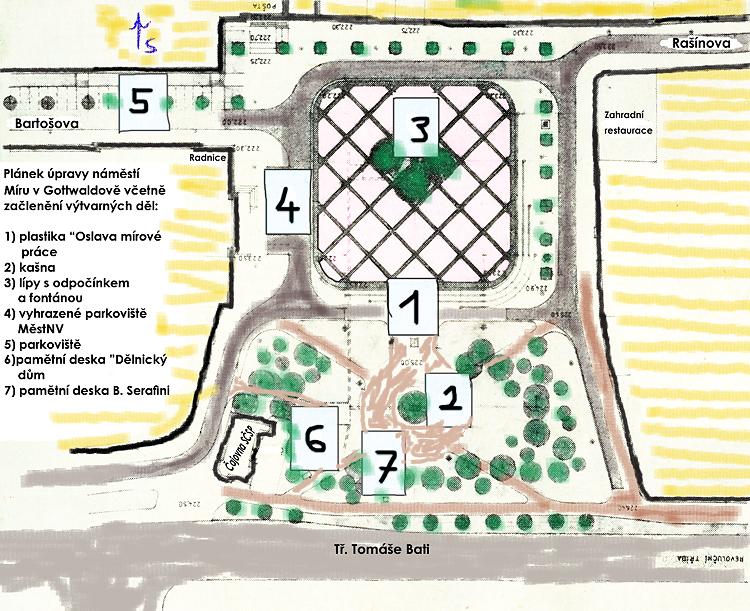 náměstí míru - plán