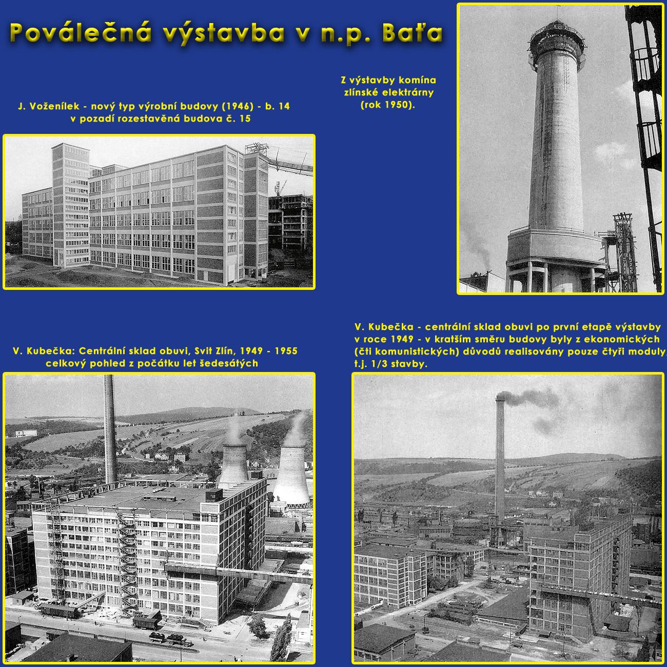 Poválečná výstavba v areálu