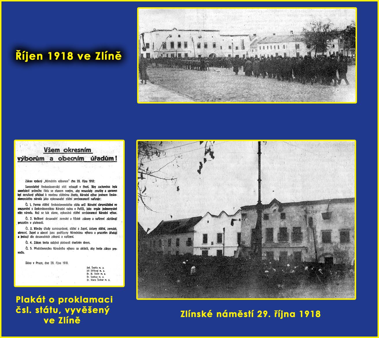 říjen 1918 ve Zlíně