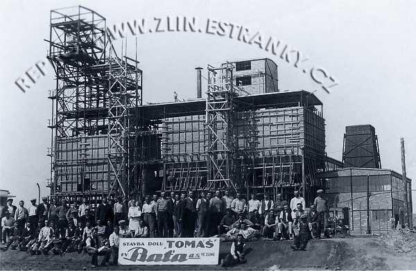 Důl Tomáš Baťa - stavba