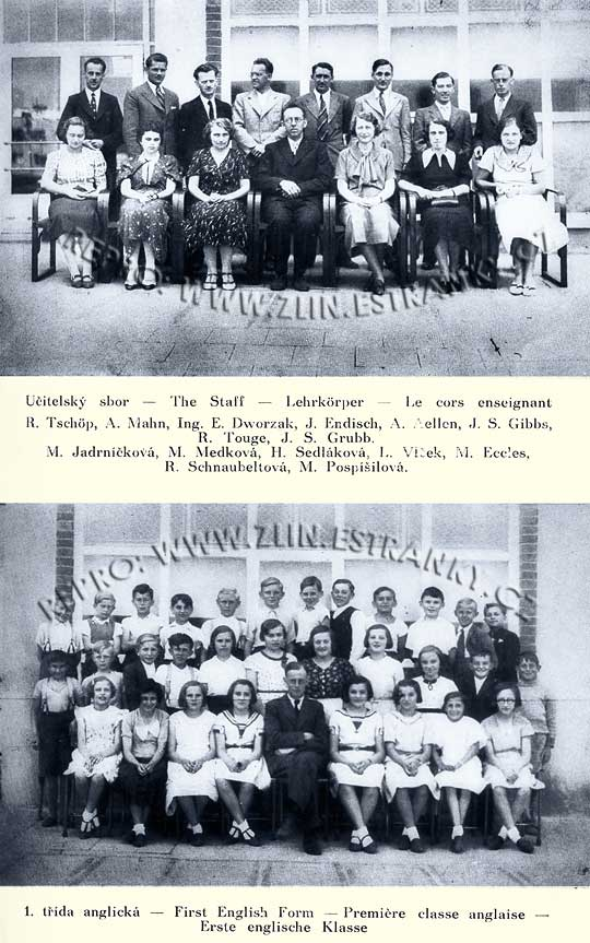 Škola pracující dle zásad Baťových - 1936