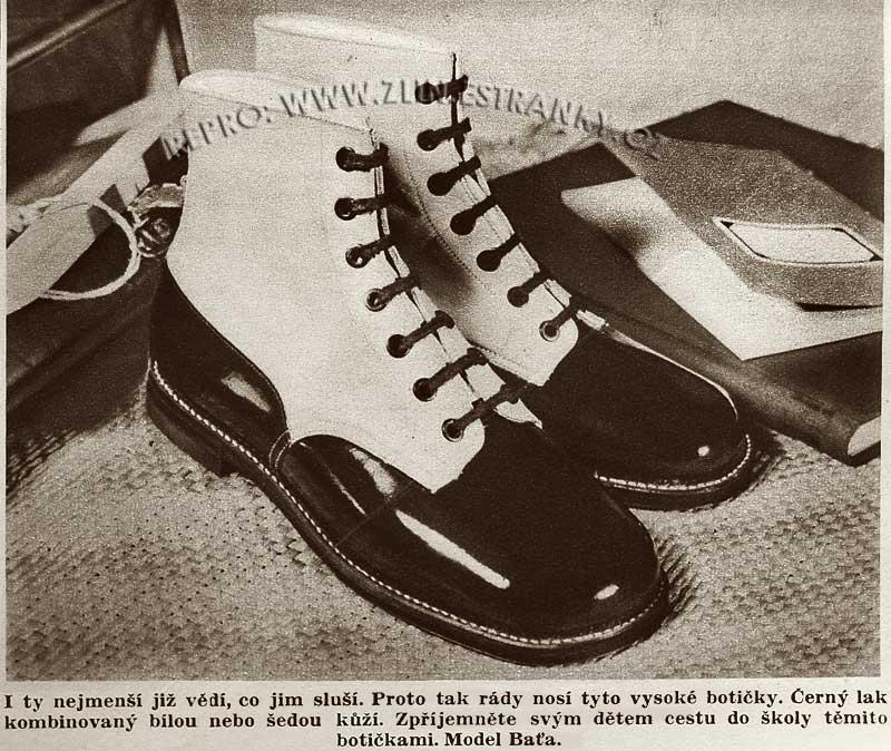 Reklama Baťa - školní obuv (1937)
