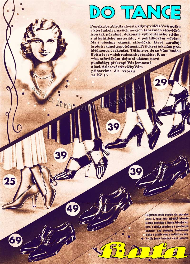 Reklama Baťa - do tance - 1933