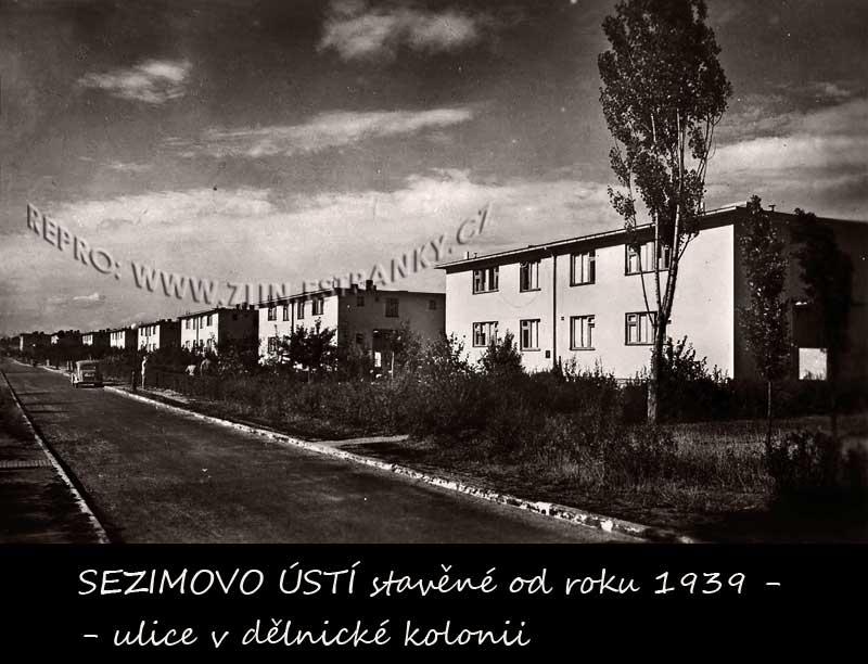 Ulice Baťova Sezimova Ústí z r. 1939