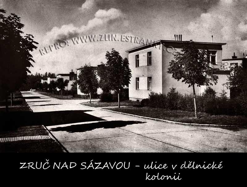 Zruč nad Sázavou - baťovská ulice