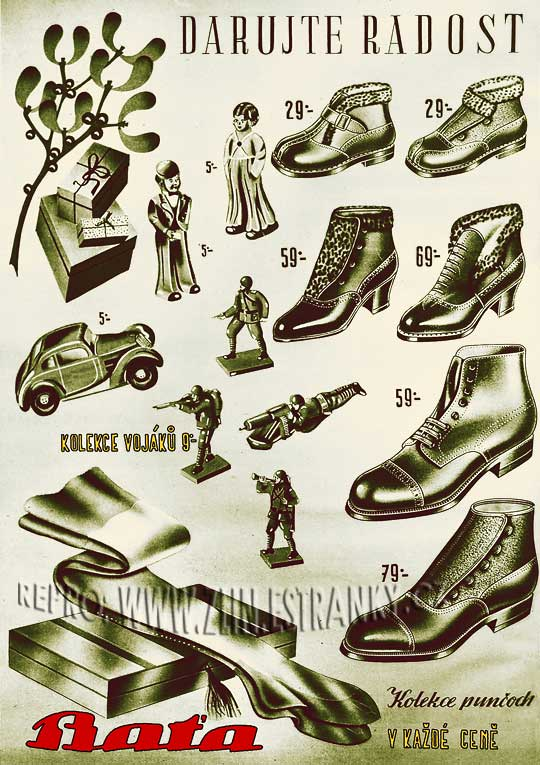 Reklama Baťa - darujte radost - 1937
