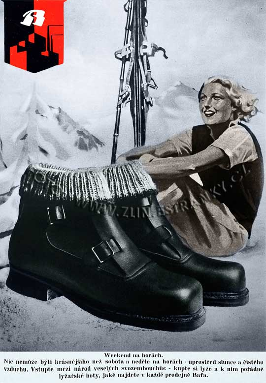 Reklama Baťa - weekend na horách - 1937