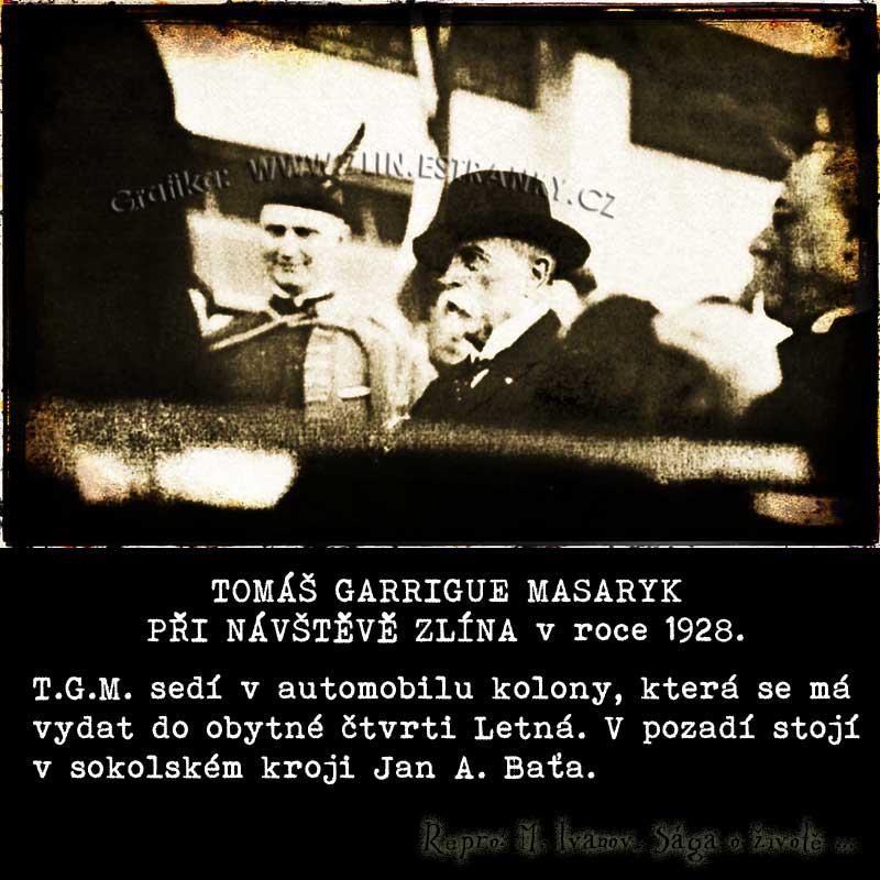 J.A. Baťa a T.G. Masaryk 1928