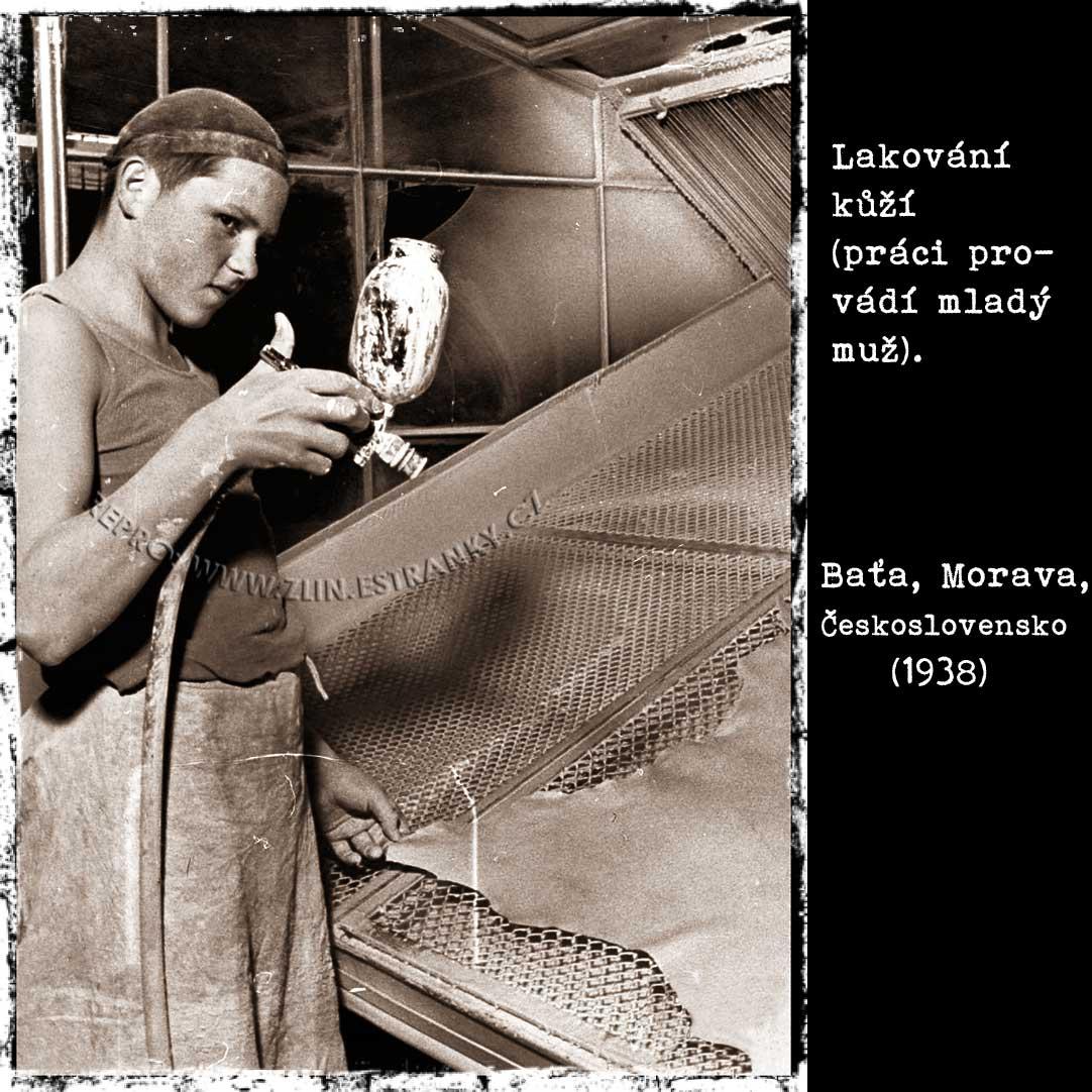 Baťa a.s. - lakování kůží (1938)