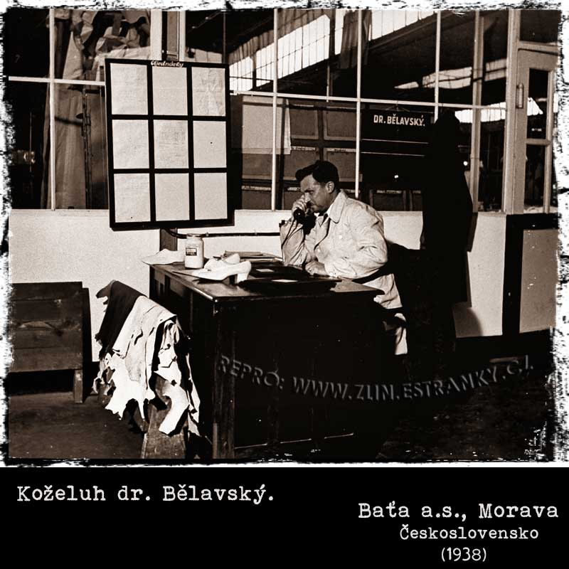 Baťa a.s. - koželuh dr. Bělavský (1938)