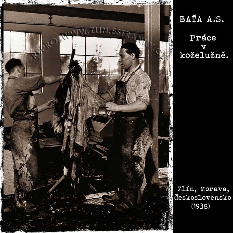Baťa a.s. - práce v koželužně (1938)