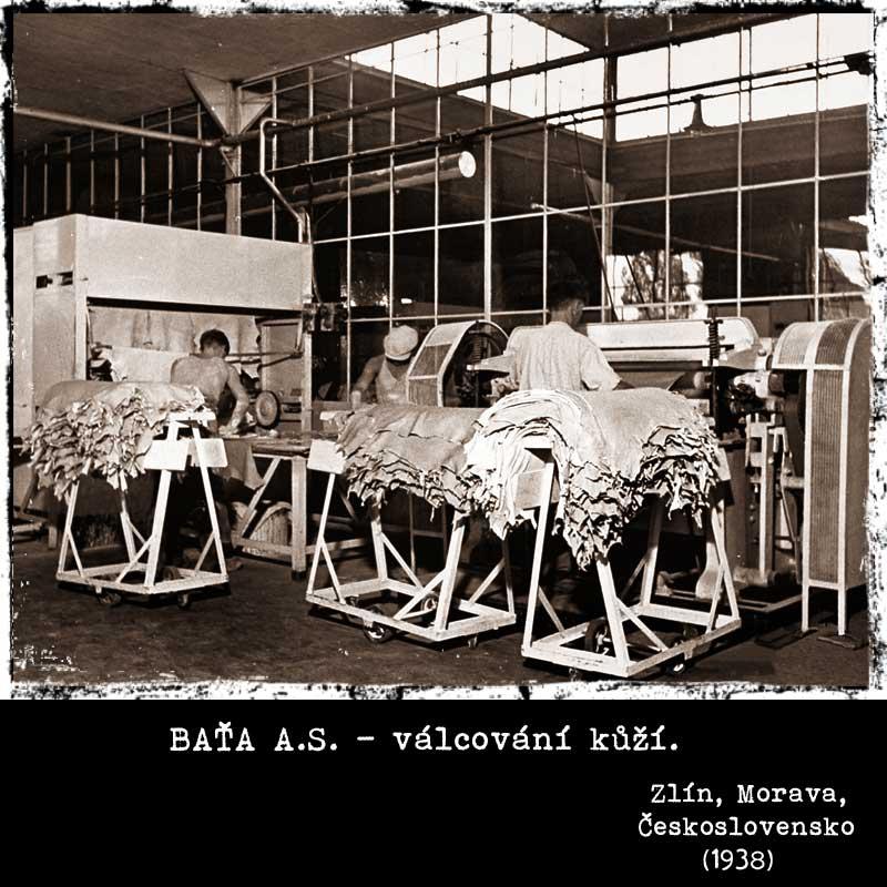 Baťa a.s. - válcování kůží (1938)