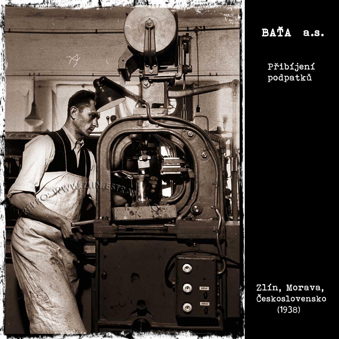 Baťa a.s. - přibíjení podpatků (1938)