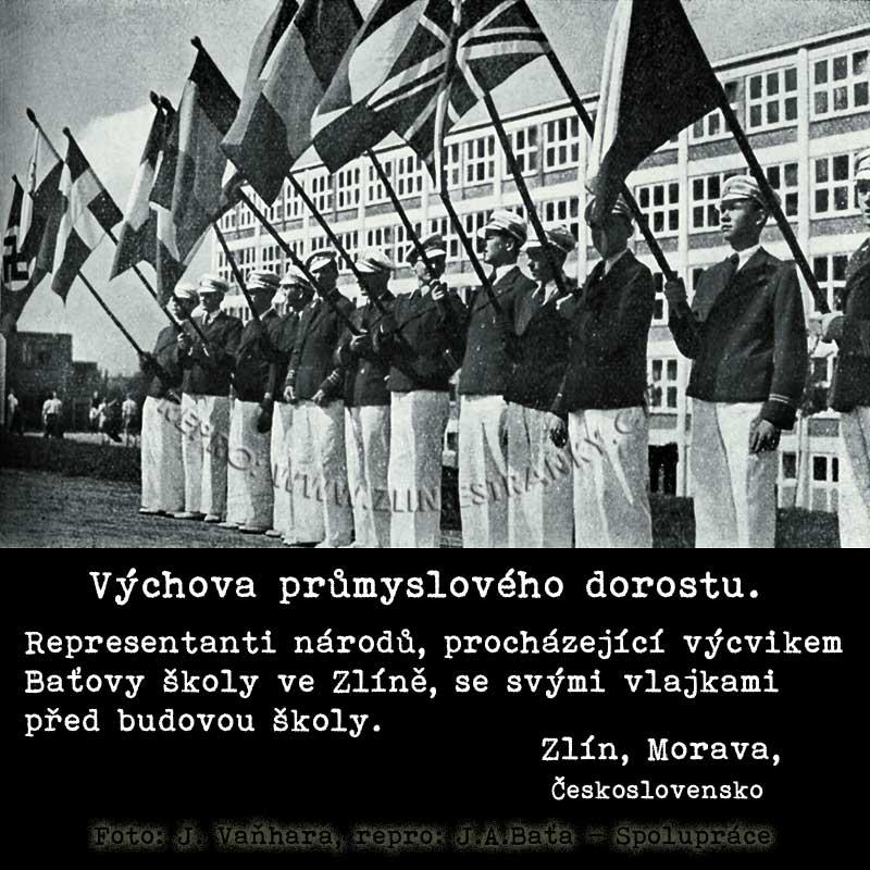 Baťova škola práce - representanti národů