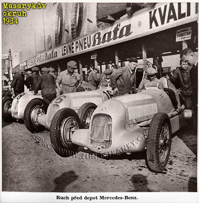 Masarykův okruh 1934 - depo fy. Mercedes