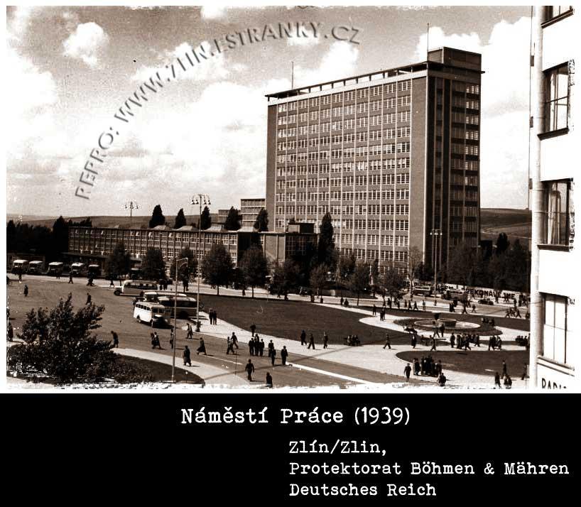 Náměstí Práce - 21. budova -  Zlín 1939