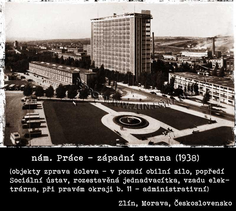 Náměstí Práce - západní strana  (1938)