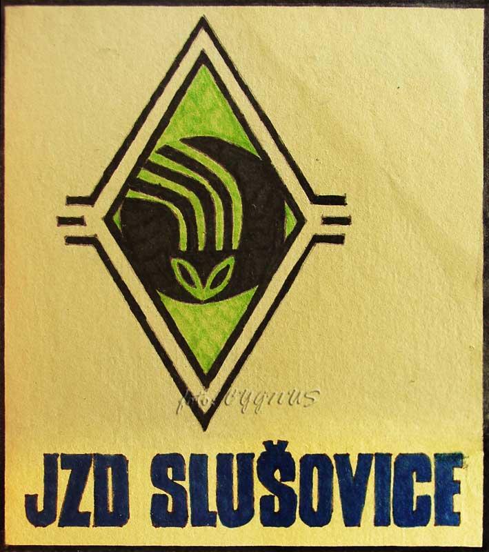 JZD Slušovice - amatérsky vyvedený dobový logotyp