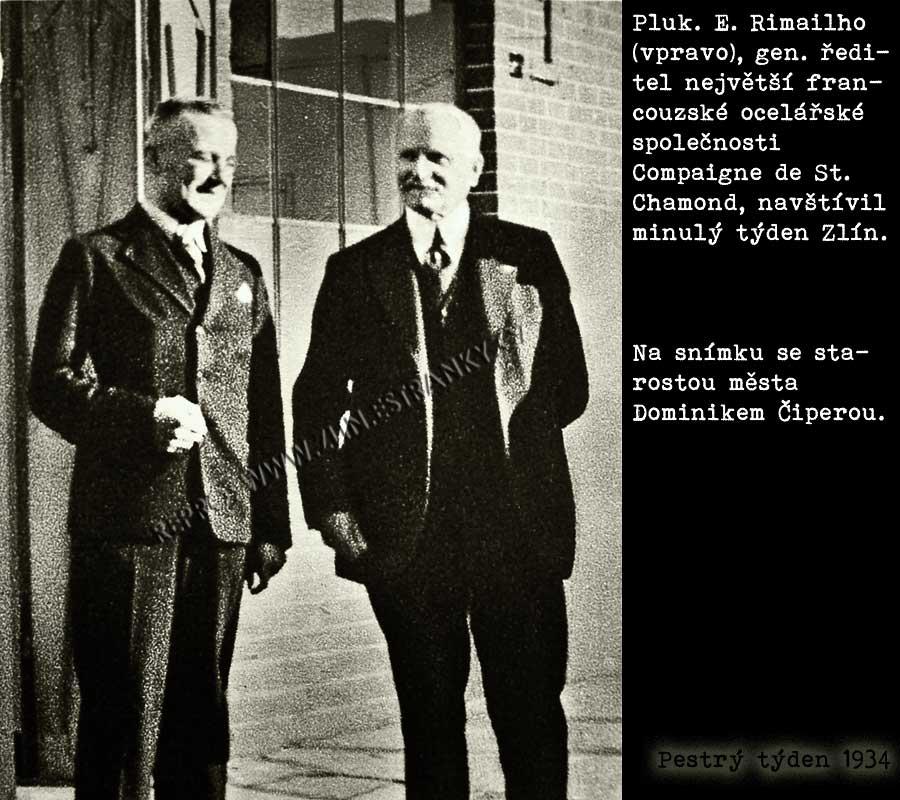 DC a Rimailho ve Zlíně 1934