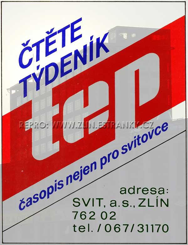Tep - reklama z r. 1991