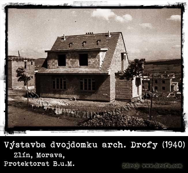 Dvojdomek - stavba dle proj. arch. Drofy (1940)