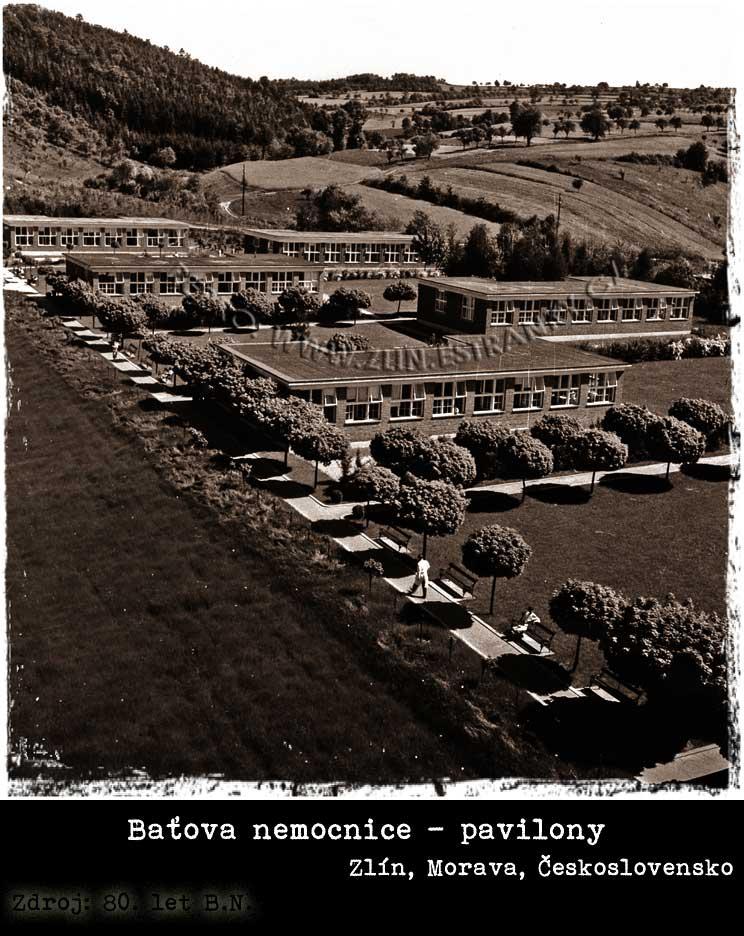 Baťova nemocnice - přízemní pavilony