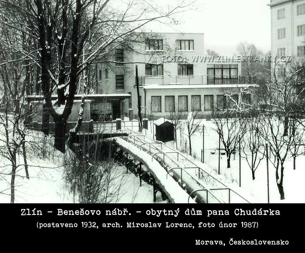 Arch. Mir. Lorenc - dům pana Chudárka na Benešově nábřeží ve Zlíně