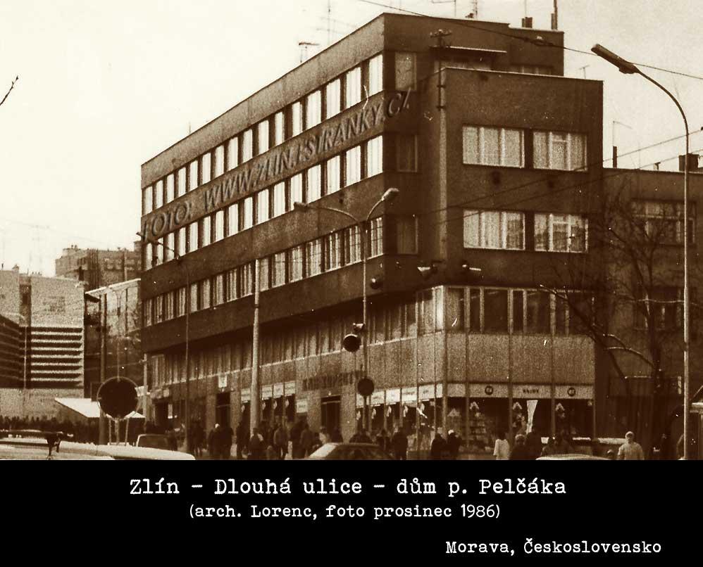 Arch. Mir. Lorenc - dům pana Pelčáka na Dlouhé ulici ve Zlíně