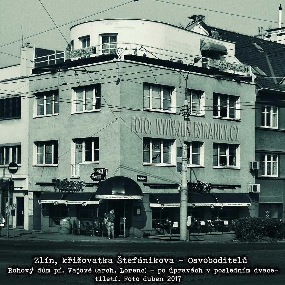 Arch. Mir. Lorenc - dům paní Vajové na křižovatce Štefánikova-Osvoboditelů v dubnu 2017