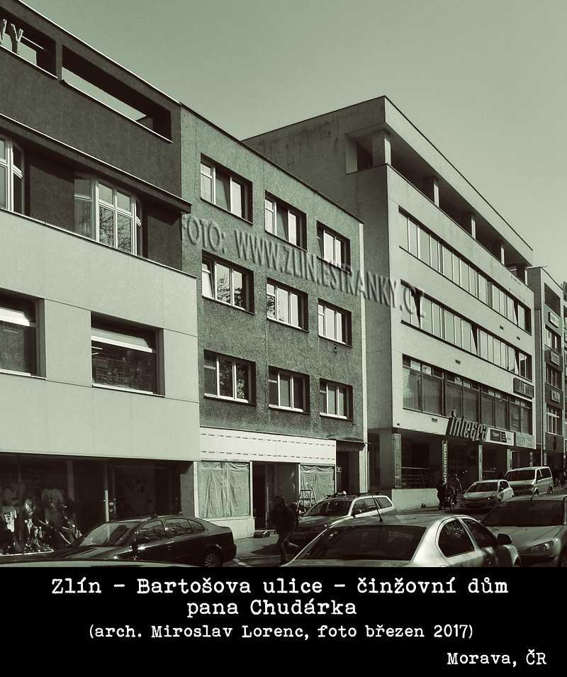 Arch. Mir. Lorenc - činžovní dům p. Chudárka v Bartošově ulici (duben 2017)