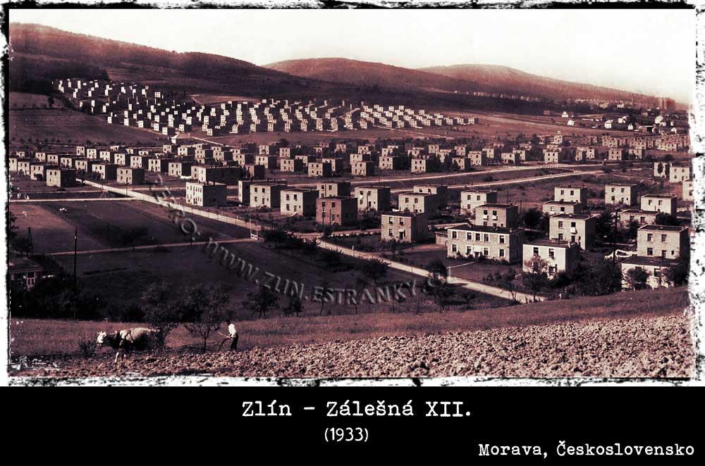 Zlín - Zálešná XII. v roce 1933