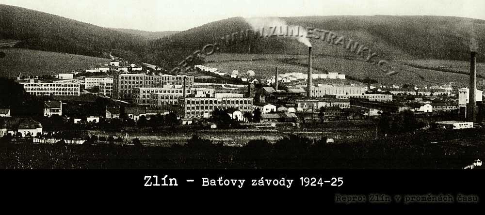 Zlín - Baťovy závody v letech 1924/25