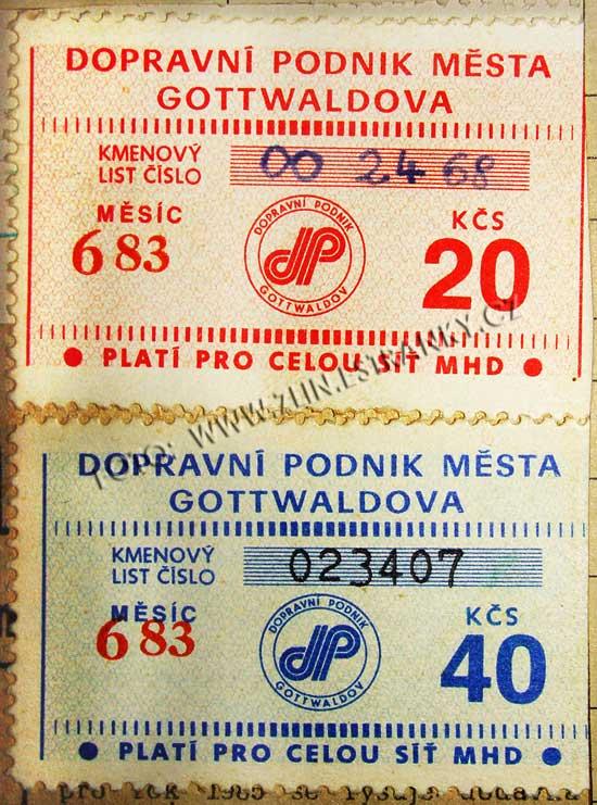 DPMG - zlínské známky na kartičky