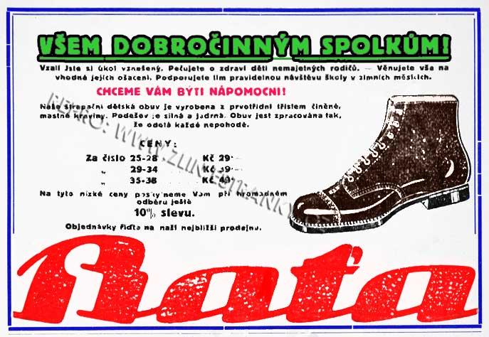 Obuv pro dobročinné spolky  - Humoristické listy 1926